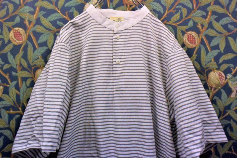 画像1: BOOZE Henri Shirt(シャトル織機オックスフォードポケットヘンリーシャツ) (1)