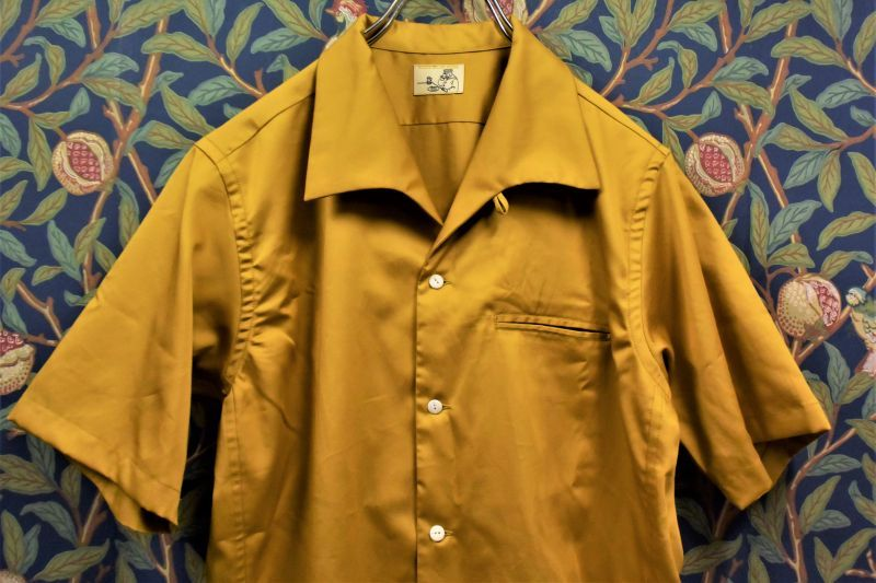 画像1: BOOZE  Open Collar Shirt(コットンシルク開襟シャツ) (1)