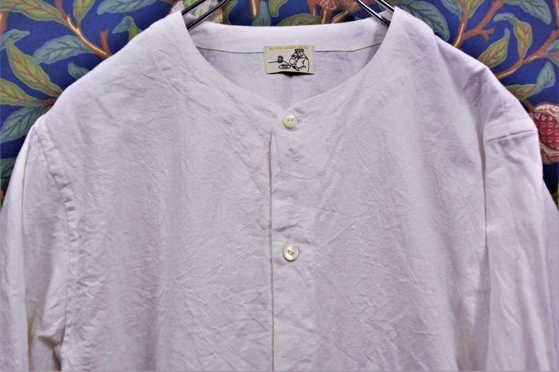 画像1: BOOZE  Round Neck Shirt(残布シリーズ)(飾り無しベースボールシャツ) (1)
