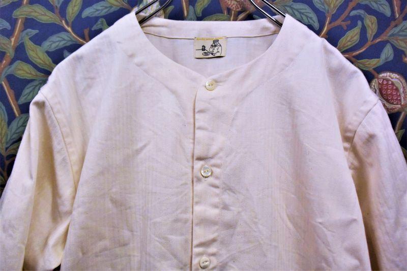 画像1: BOOZE  Round Neck Shirt(飾り無しベースボールシャツ) (1)