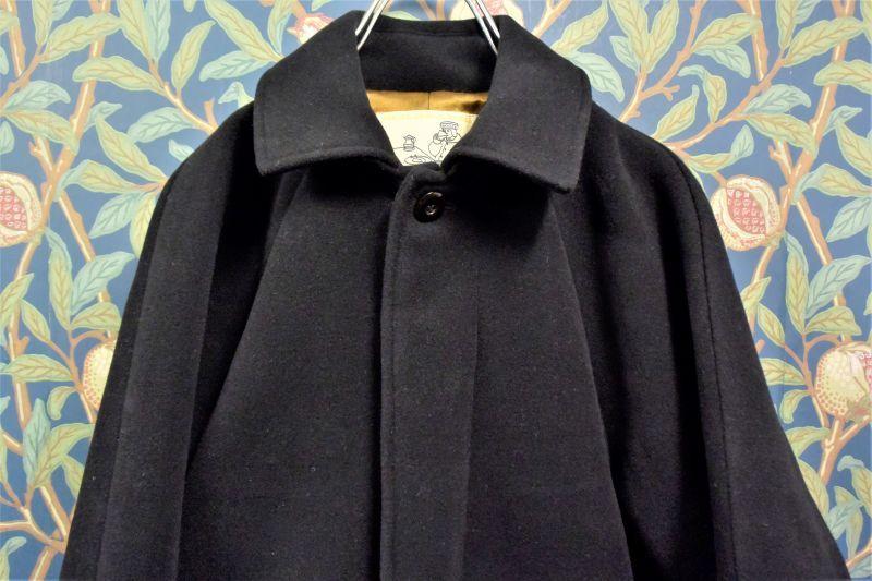 画像1: BOOZE  Fly Front Raglan Coat(ショート丈ステンカラーコート裏地ウールシルク)衿微調整版 (1)