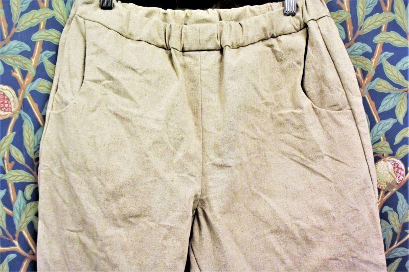画像1: BOOZE DESIGN WORKS Cotton linen Easy Pants(男女兼用) (1)