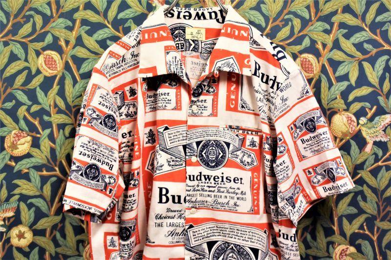 画像1: BOOZE  Open Collar Shirt(一点物開襟シャツ)身幅L丈M (1)