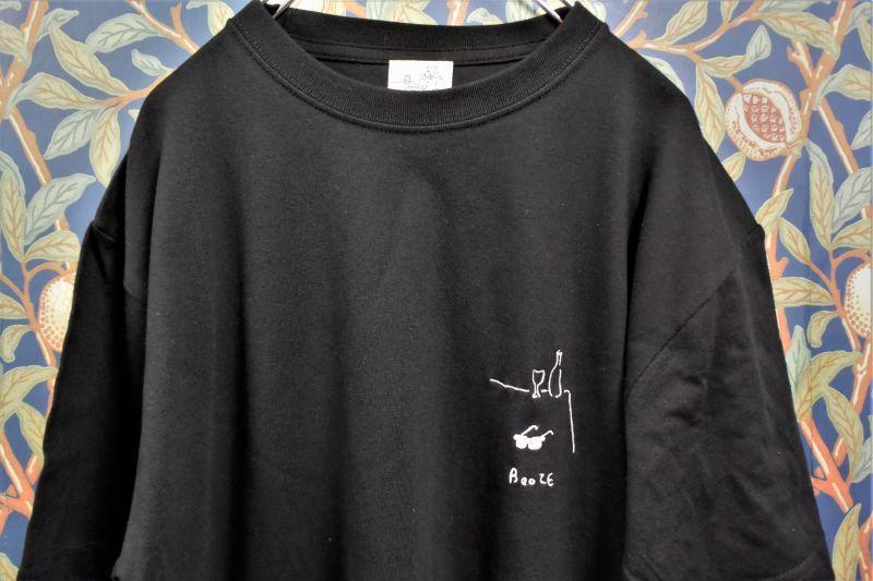 画像1: BOOZE サングラス&グラス刺繍Tシャツ(アートワーク中村穣二) (1)