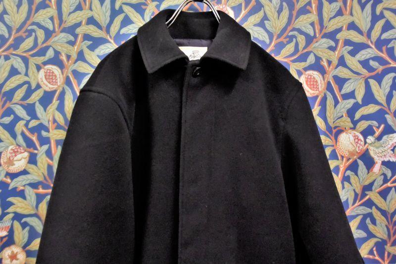 画像1: BOOZE  Fly Front Half Coat(ミドル丈ステンカラーコート裏地甲州織)衿微調整版 (1)