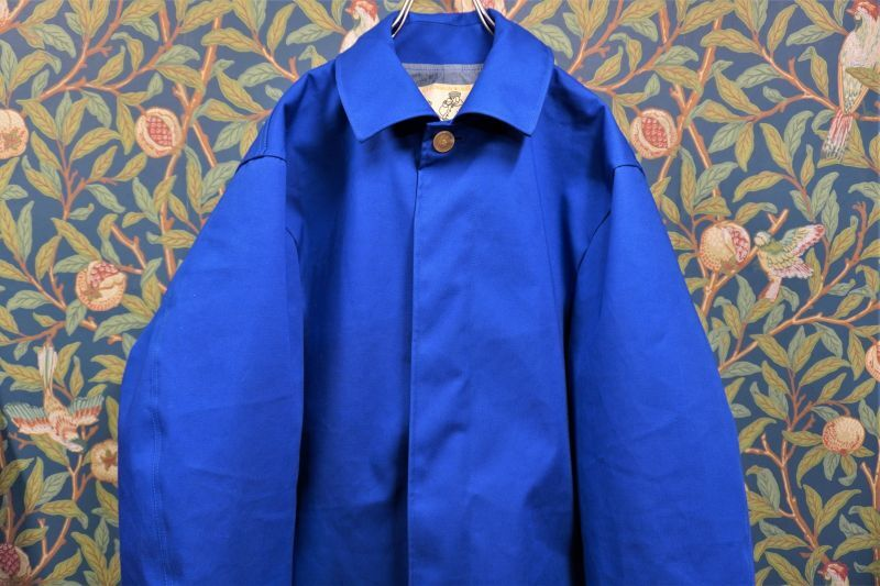 画像1: BOOZE  Fly Front Rubberized Coat(ショート丈ゴム引きステンカラーコート) (1)