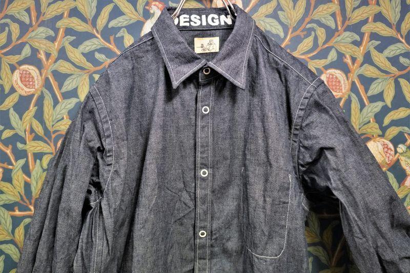 画像1: BOOZE Pocket Shirt(ダンガリーシャツ)  (1)