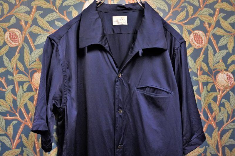 画像1: BOOZE  Open Collar Shirt(レーヨン開襟シャツ) (1)