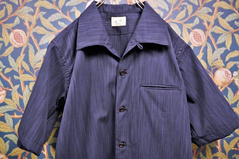 画像1: BOOZE  Open Collar Shirt(縞柄開襟シャツ) (1)