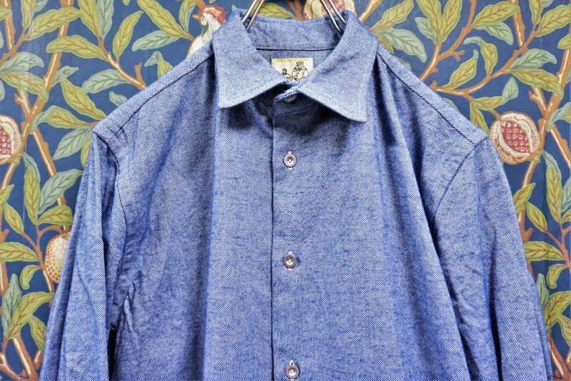 画像1: BOOZE  Gathered Shirt(イタリア製オックスフォードギャザーシャツ) (1)