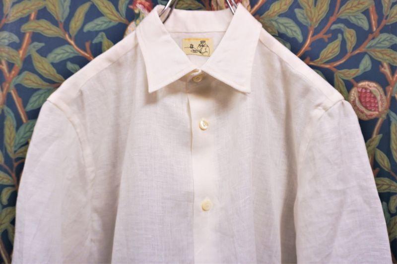 画像1: BOOZE  Gathered Shirt(フレンチリネンギャザーシャツ) (1)