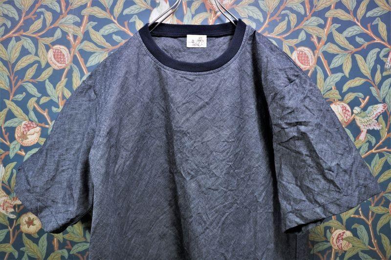画像1: BOOZE  T-Shirt(ダンガリーフハクTシャツ) (1)