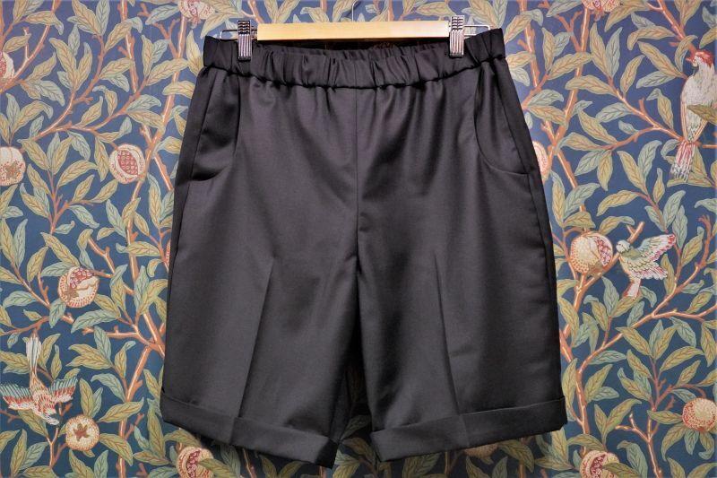 画像1: BOOZE DESIGN WORKS  Short Pants (生地HOLLAND&SHERRY)ミッドナイトブルー (1)